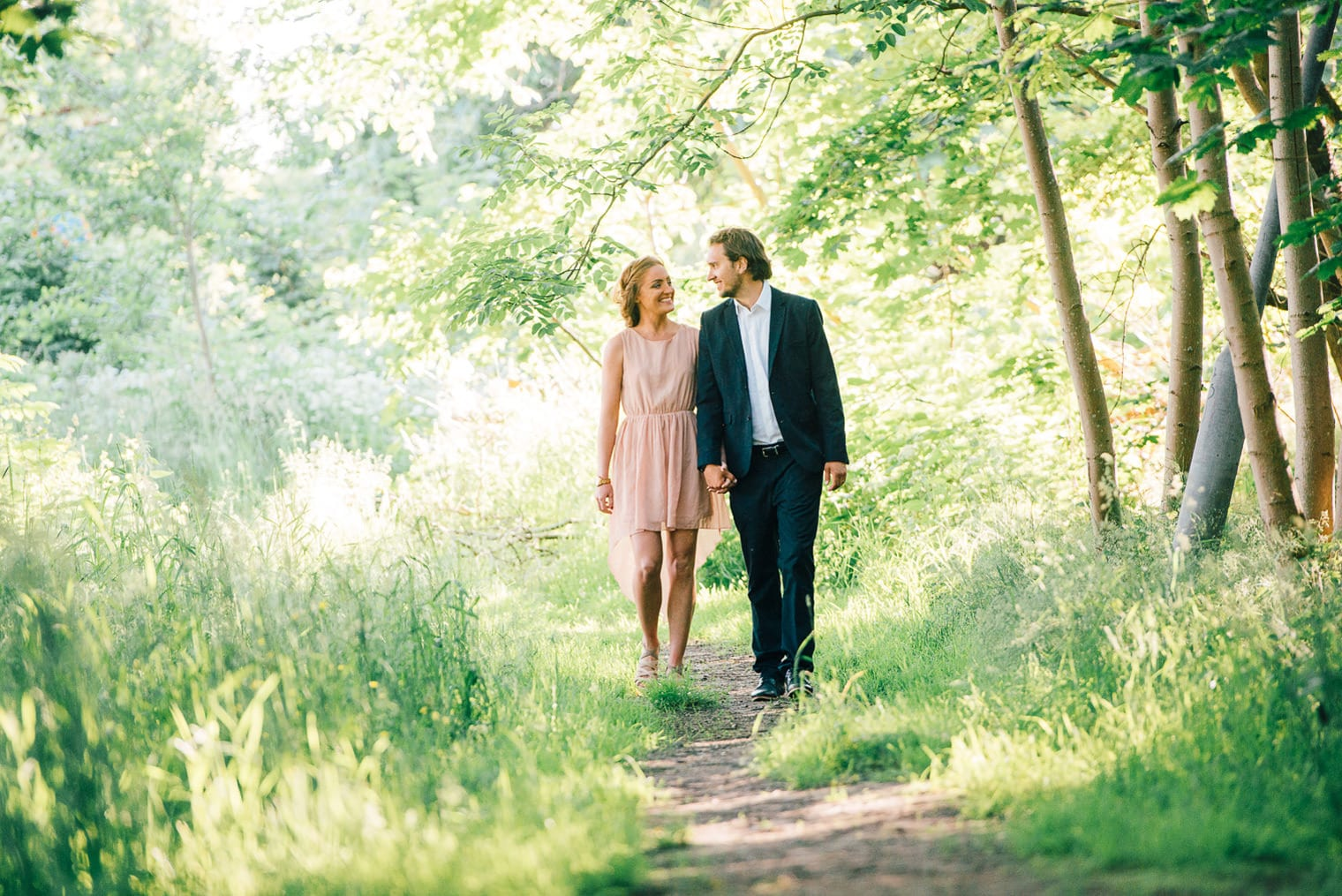 Couple with trees. Pre wedding beloved session.